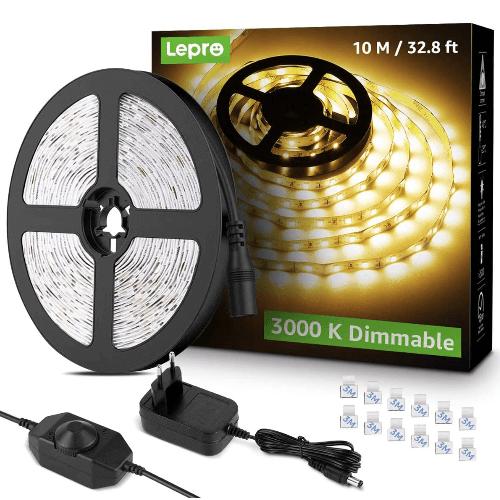 Tira-LED-blanco-cálido-LePro-de-10m