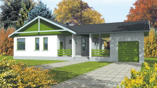 Colores-de-pintura-para-fachadas-rusticas-verde-y-blanco